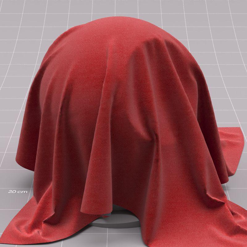 Corona Cinema 4D Material Red Fabric